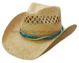 2016 diseño de moda rafia paja sombreros de vaquero / Sombrero de sol (DH-LH91215)