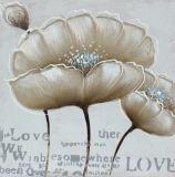 Pintura al óleo hecha a mano de la lona de la flor casera moderna de la decoración
