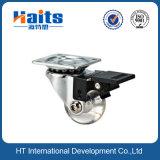 Transparente Platten-Rad-Fußrolle der Fußrollen-T ohne Bremse