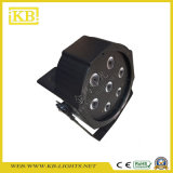 7PCS ** 10W 3in1 LED plana PAR luz para interiores
