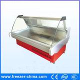 Loja de carne com estilo quente com vidro curvo Deli Display Refrigerated Counter