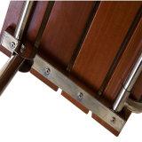 Asiento de derramamiento de madera plegable antiséptico de la teca con la pierna del soporte