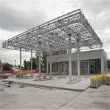 Здание бензоколонки стальной рамки экономии на затратах для сбывания