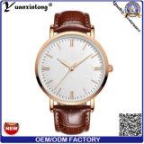 Yxl-406 de promotie Nieuwe Levering voor doorverkoop van het Polshorloge van het Roestvrij staal van het Leer van de Manier van de Horloges van Mens van het Horloge van het Kwarts van de Stijl