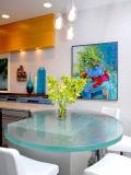 Moderne en verre clair / Opaque trempé de sécurité Table Tops