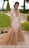 O partido do baile de finalistas do laço veste os vestidos de noite A3001 da celebridade de Champagne