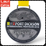 Medalla de encargo del Triathlon del metal del precio de fábrica de la calidad superior