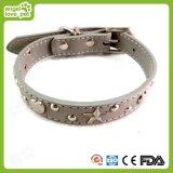 Plutônio de couro da alta qualidade com o colar do animal de estimação do rebite de Saml, colar de cão, trela do animal de estimação