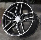 Оправы колеса сплава автомобиля машины F9919 16X7.5 6X139.7 черной подгонянные губой