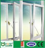 Ventana de aluminio de la inclinación y de la vuelta del perfil de la Caliente-Venta con el vidrio Tempered
