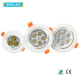 La alta calidad 5W calienta la luz blanca Dimmable LED Downlight del punto