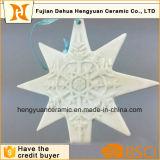 Het met de hand gemaakte Manier Aangepaste Ceramische Hangende Ornament van Kerstmis