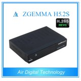 Mais novo Decodificador de TV Engima2 Linux Twin DVB S / S2 H. 265 Decodificação Zgemma H5.2s