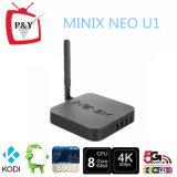 2016 de Beste Androïde Doos van Minix van de Kern van de Vierling van Bluetooth Amlogic van de Doos van 5.1 TV S905 NeoU1 4k Vastgestelde Hoogste