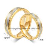 Joyería de Acero Plateada Oro de Calidad Superior del Anillo de Compromiso del Anillo de Bodas de la Venta al por Mayor de la Fábrica de OEM/ODM