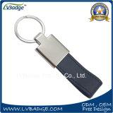 Metal relativo à promoção Keychain Keychain de couro de Keychain