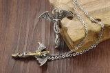 Juwelen van de Halsband van de Tegenhanger van de Draak van het Roestvrij staal van het Titanium van de manier de Dwars