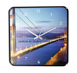 Beau paysage dans la ville moderne Customized Wholesale Wall Clock