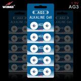Bateria alcalina da moeda AG3 para o dispositivo electrónico do pulso de disparo do relógio