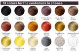 Fibras orgânicas do cabelo com 18 cores populares no mundo inteiro