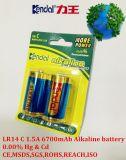 1.5V Größe der alkalischen Batterie-Lr14: C