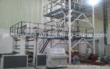 Três da co-extrusão do LDPE da estufa camadas da máquina de sopro da película