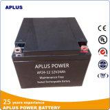 Baterias de armazenamento pequenas 12V do tamanho VRLA 24ah com separador do AGM