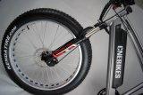 """750W 26 """" 중앙 드라이브 모터를 가진 뚱뚱한 타이어 전기 자전거"""