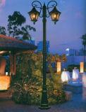 50W LEDの庭ライトポストの上の指導者の屋外の球根ランプの涼しい白