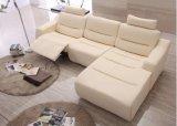 Sofá moderno com o sofá secional do couro do Recliner para o sofá Home