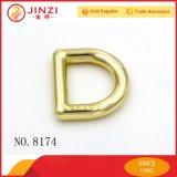 Clip D en alliage de zinc en métal de mode avec le logo gravé