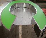 Напольный внешний передний Lit Facelit изготовил письмо канала знака 3D габаритное пластичное Acryic зеленое загоранное СИД