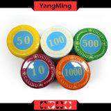 730PCS/кристаллический набор микросхем покера типа экрана с в алюминиевым набором микросхем казина случая для 5-10 играя в азартные игры игр Ym-Sjsy002