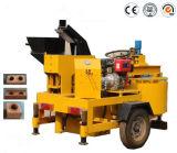 Qts1-20mのミキサーの価格の移動式半自動油圧連結の粘土のブロック機械