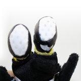 Brinquedo pequeno preto do luxuoso do papagaio do couro 12cm