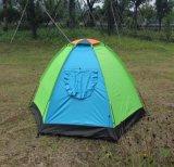 De blauwe en Groene 78.7 X 55 43.3-duim van X 2-persoon D-Vorm de Tent van de Deur