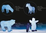 Kundengerechtes dekoratives im Freien des Weihnachten3d Licht Feiertags-Partei-Motiv-LED