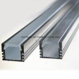 Profilo di alluminio anodizzato di figura LED di U con il coperchio