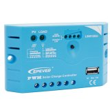 Epever 12V com o controlador cobrando solar cobrando solar do USB 5A PWM