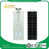 30W IP65の1つの太陽LEDの街灯の価格の屋外の統合されたレーダーの動きセンサーすべて