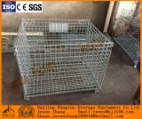 Gaiola Foldable galvanizada do armazenamento do engranzamento de fio do metal da indústria
