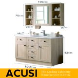 新しい優れた熱い販売の簡単な様式の純木の浴室の虚栄心の浴室用キャビネットの浴室の家具(ACS1-W28)