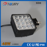 48W indicatore luminoso di funzionamento fuori strada quadrato della lampada dell'automobile LED