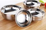 Cuvette de préparation de potage de polonais de miroir d'acier inoxydable