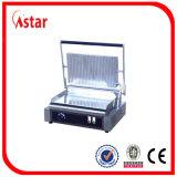 4つの温度調節器が付いている商業テーブルの上のグリドルの平らな版、販売のための商業装置