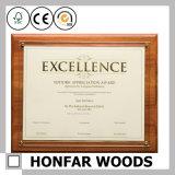 De moderne Stevige Houten Omlijsting van het Document van het Certificaat voor Decor