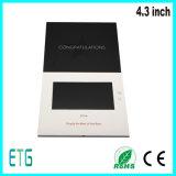 Hete Verkoop Kaarten van de Groet van 4.3 Duim 128MB A5 LCD de Video voor Adverterende Spelers