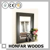 Cadre de miroir en bois brun haut de gamme pour l'hôtel Royal Room