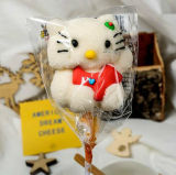 3Dカートンのこんにちはキティの形のおもちゃのロリポップキャンデー