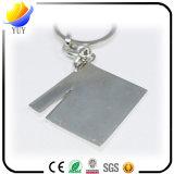 Zoll-kleines 2D Schiefer-Metallschlüsselring